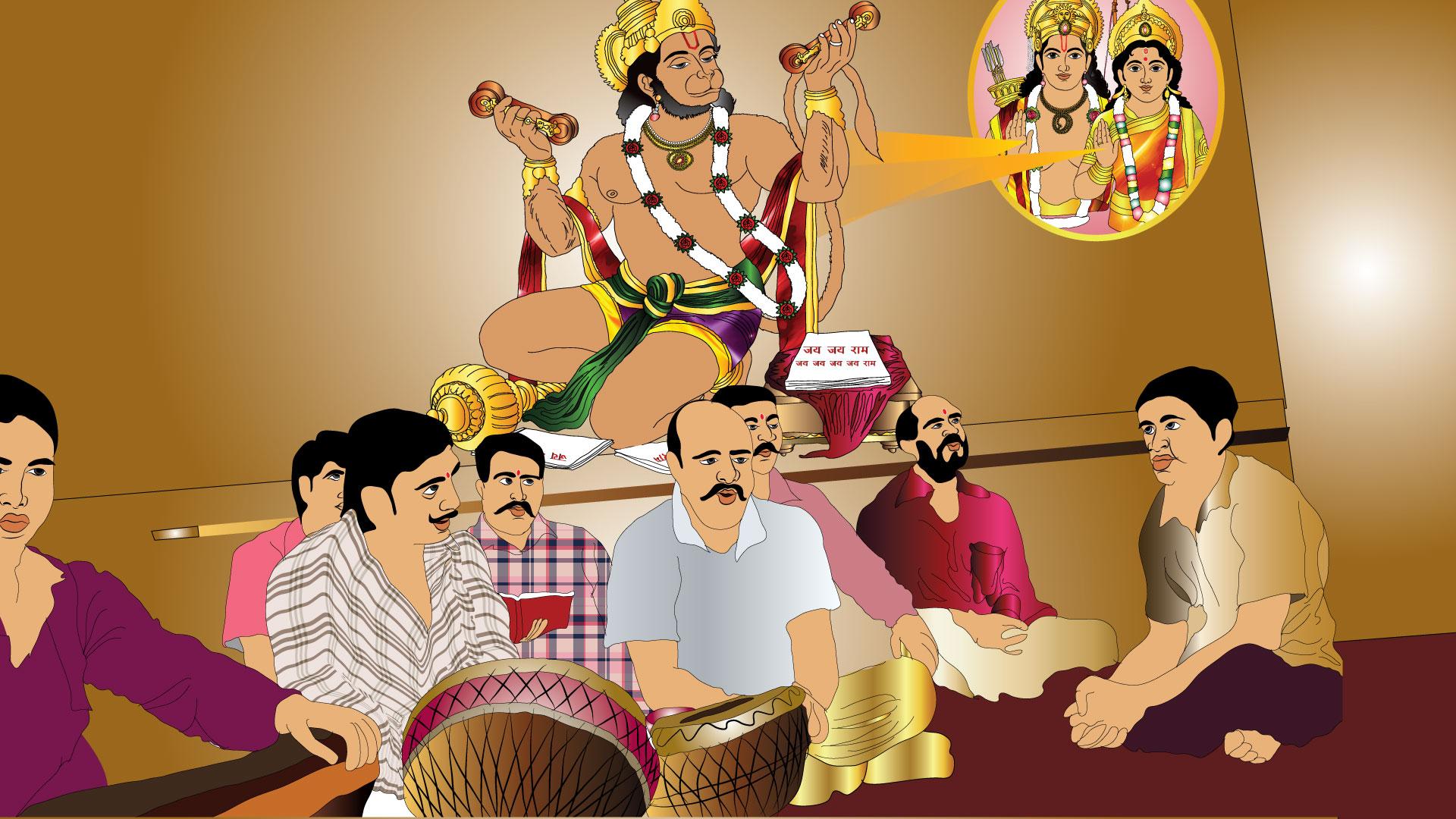 Hanuman HD wallpaper for download in laptop and desktop
